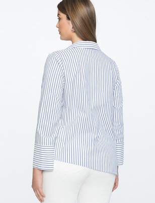 Asymmetrical Button Up Top