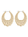 Scallop Statement Hoop Earrings Gold