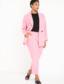Double Breasted Pinstripe Blazer Super Pink Pinstripe