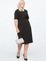 Twist Front Sheath Dress BLACK