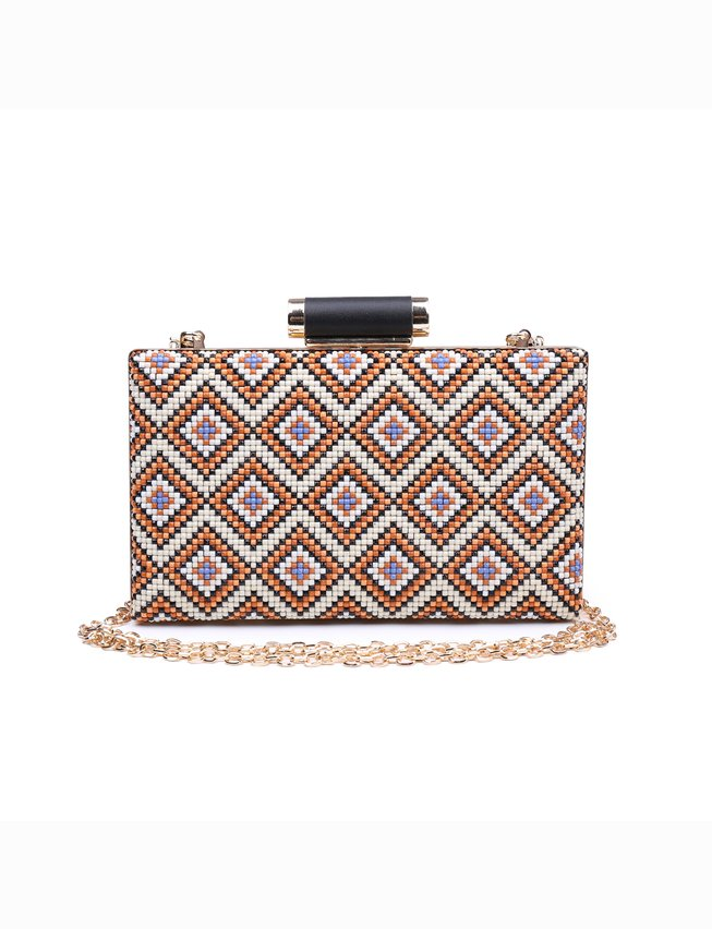 Geo Beaded Minaudiere