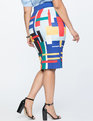 Neoprene Pencil Skirt Just My Type Print