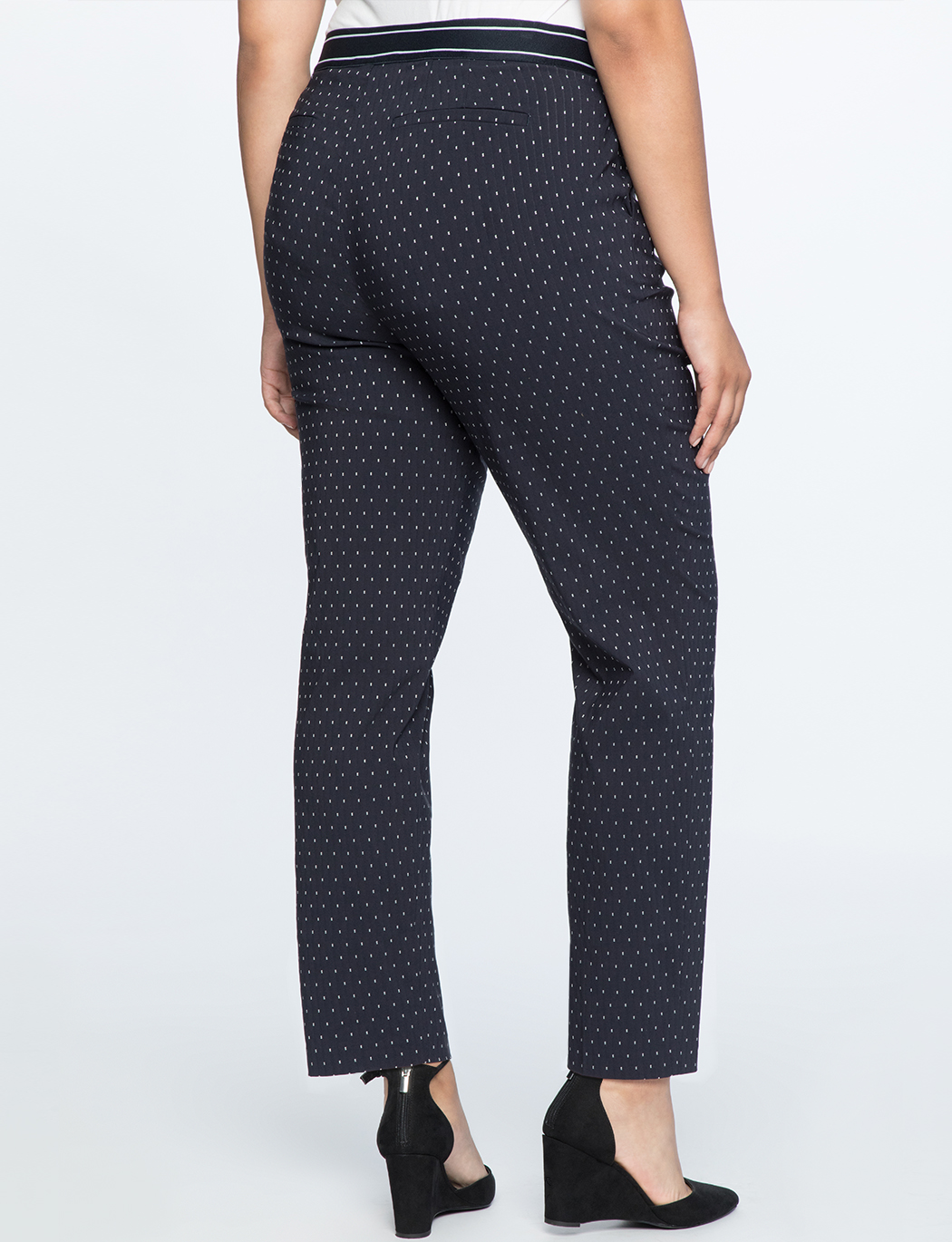 Dotted Slim Trouser