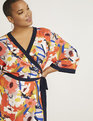 Kimono Sleeve Wrap Dress Bright Turn Ahead