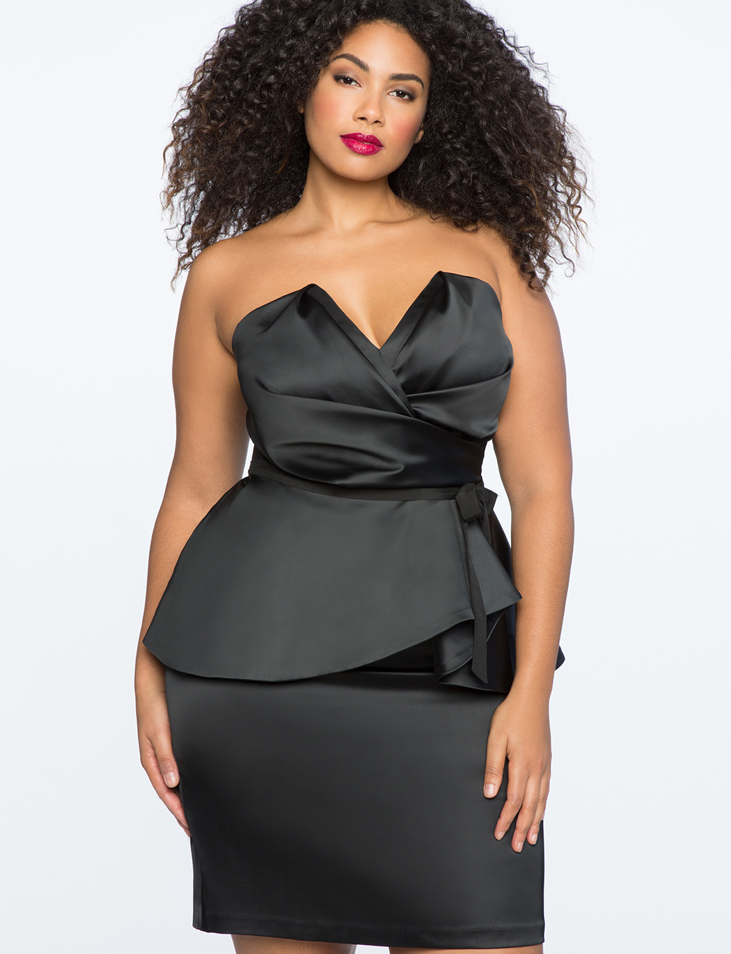 Draped Bodice Peplum Dress | Women\'s Plus Size Dresses | ELOQUII