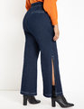 Side Slit Trouser Jean Dark Wash