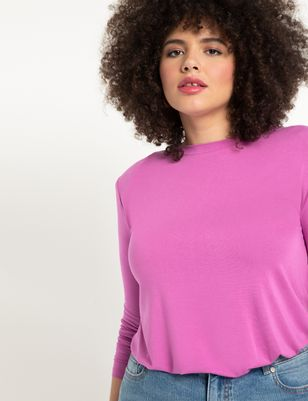 Dramatic Shoulder Long Sleeve Tee