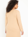 Cowl Neck Dress Tan