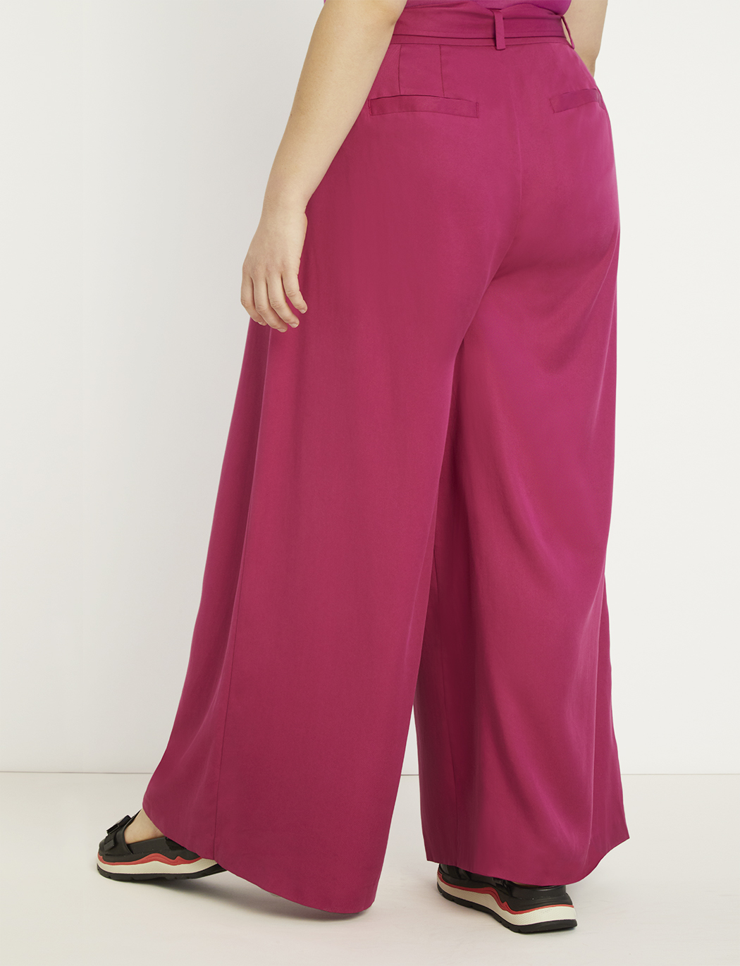 Priscilla Ono x ELOQUII Belted Palazzo Pant