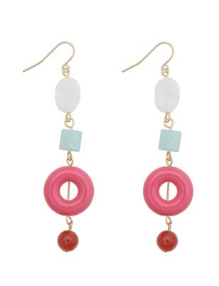 Mixed Shape Dangle Earrings