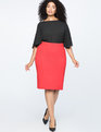 9-to-5 Stretch Work Skirt Goji Berry