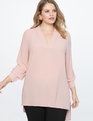 Easy V Neck Tunic Prairie Rose
