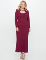 Cutout Neckline Gown CRUSHED BERRY