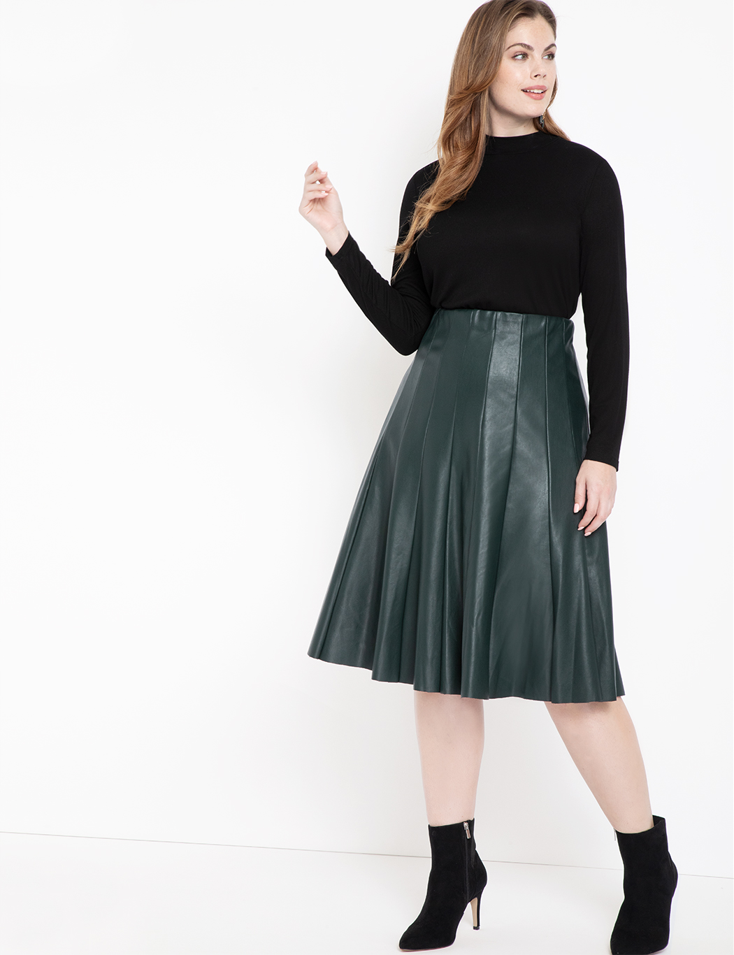 Faux Leather Trumpet Skirt | Women\'s Plus Size Skirts | ELOQUII