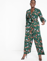 Tie Front Jumpsuit Everfloral
