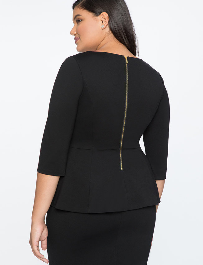 9-to-5 Asymmetrical Peplum Top