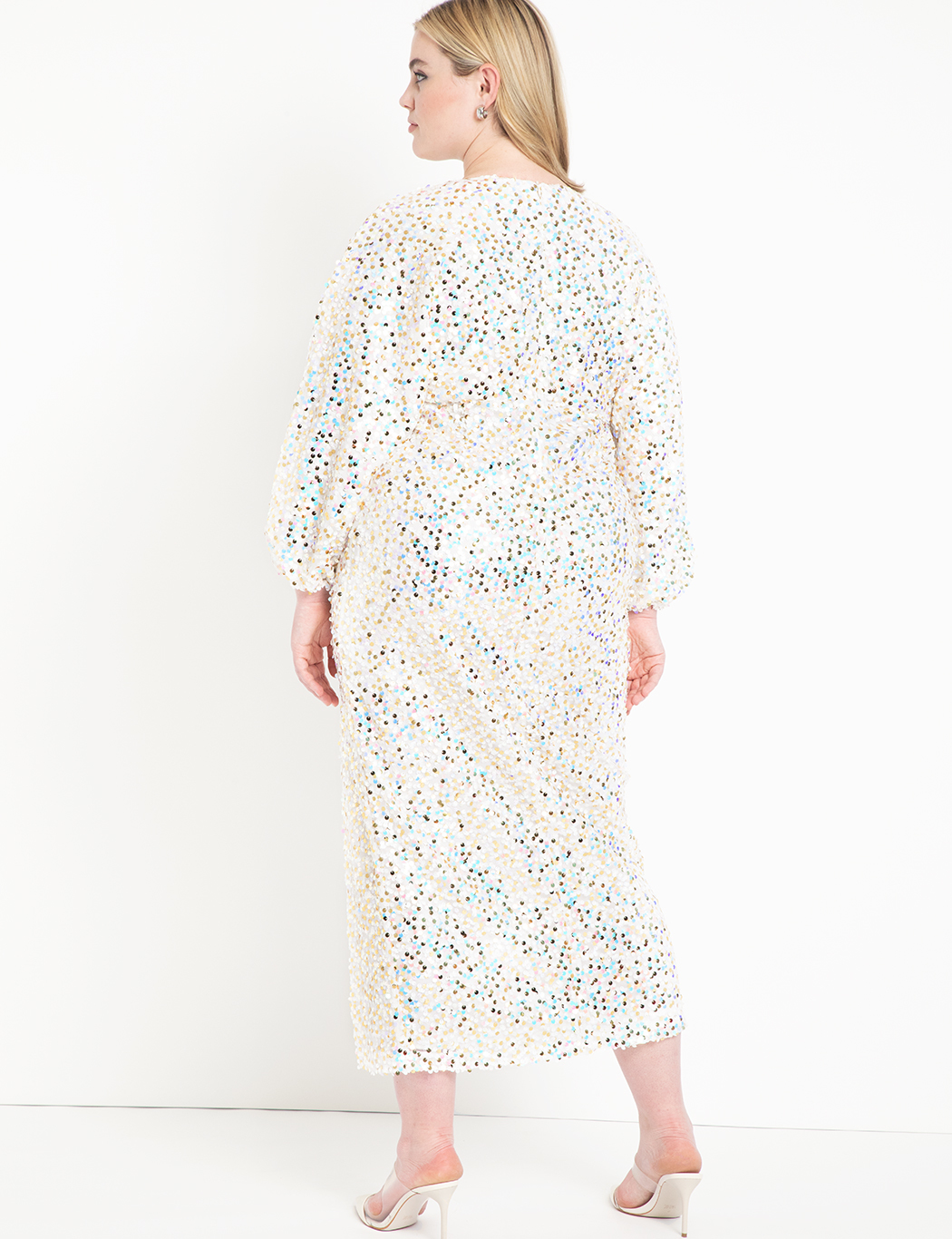 Sequin Gown with Full Sleeve