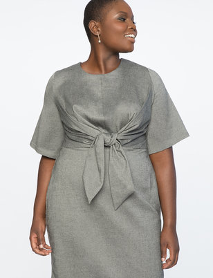 Tie Front Work Dress