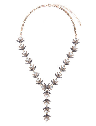 Gem Y-Statement Necklace
