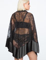 Lace Handkerchief Robe BLACK
