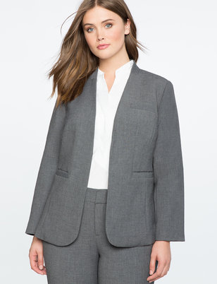 Charcoal Heather Kiss Front Blazer
