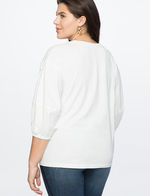 Button Detail Sleeve Top
