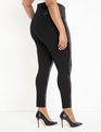 Miracle Flawless Legging with Sequin Front Black