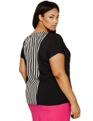 Stripes & Lace Top Black Stripe