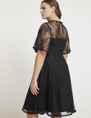 Jason Wu/ELOQUII Flutter Sleeve Lace Dress