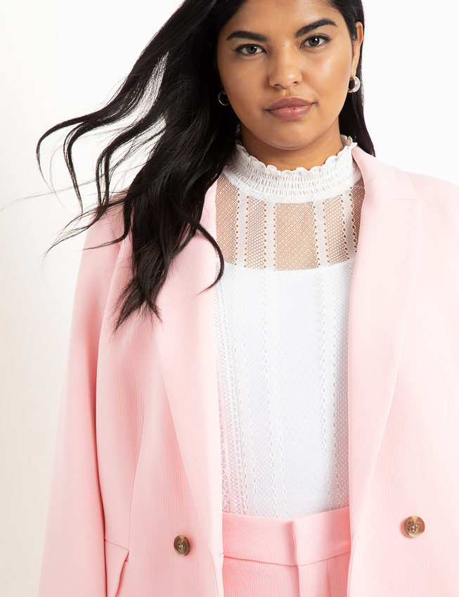 Two Button Textured Blazer