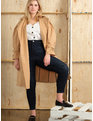 Puff Sleeve Trench Coat Khaki