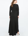 Keyhole Neckline Gown Totally Black