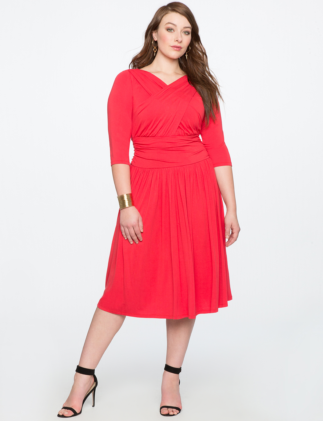 Cross Front Ruched Dress