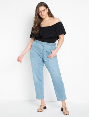 High Waisted Jeans with Belt