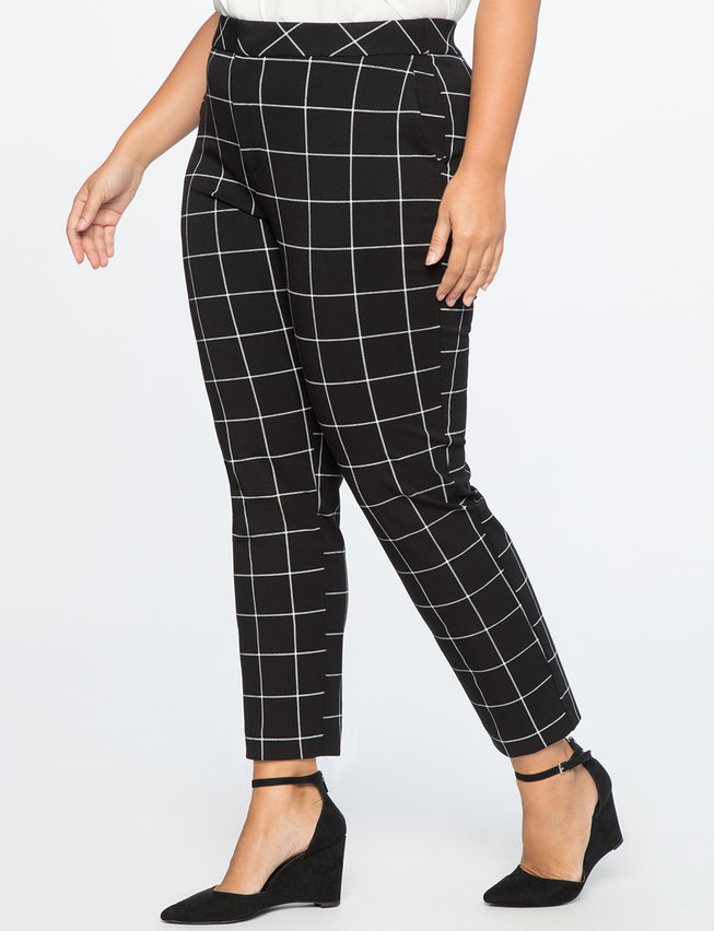 9-to-5 Windowpane Pant