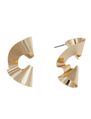 Swirl Stud Statement Earrings