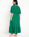 Soft Gown with Flare Sleeves Jewel Green