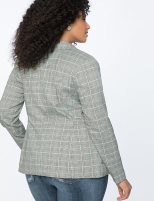 Plaid Two Button Blazer