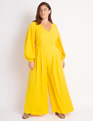 Balloon Sleeve Palazzo Jumpsuit Sun Glazed