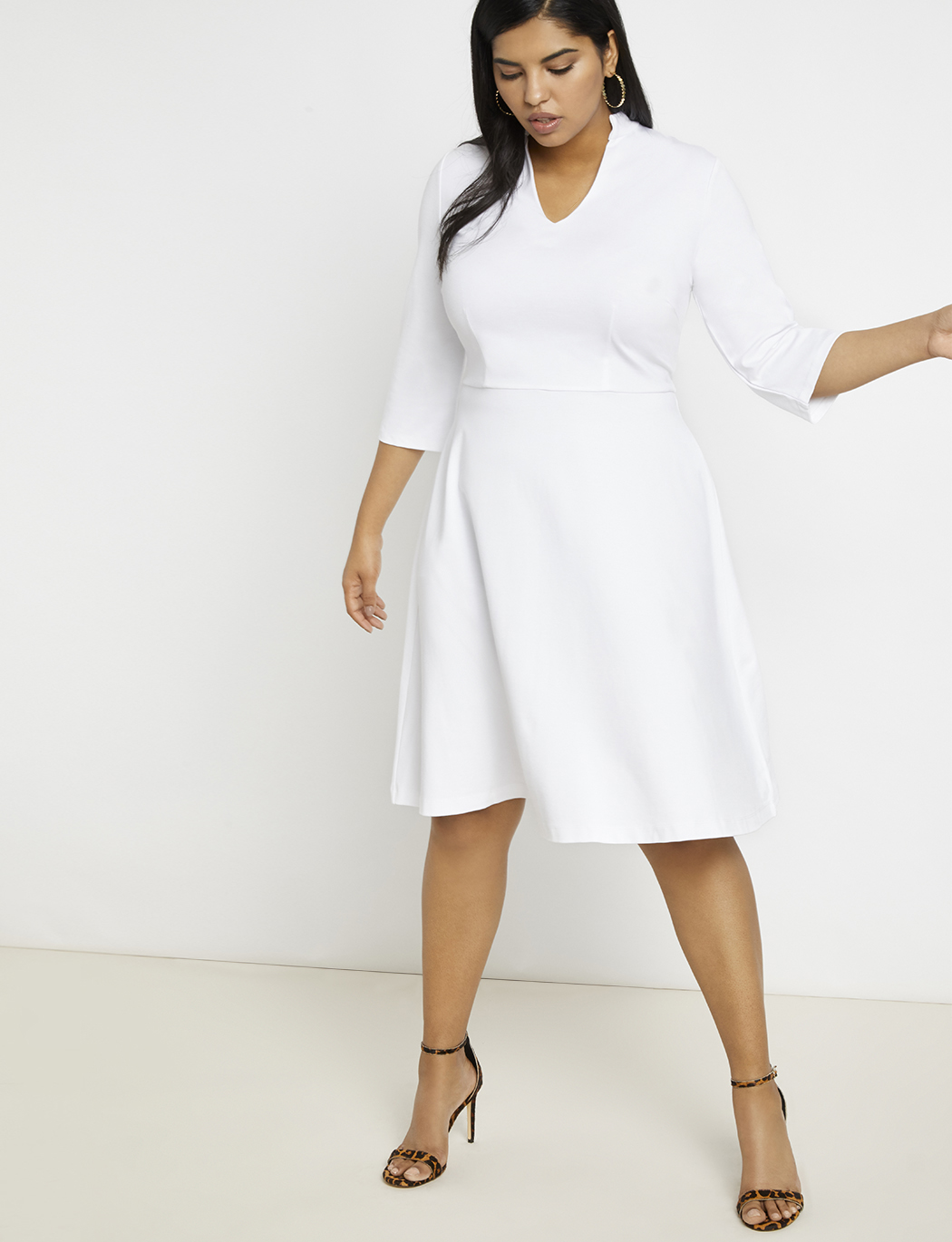 V-Neck A-Line Dress | Women\'s Plus Size Dresses | ELOQUII