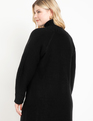 Turtleneck Cable Sweater Dress Black