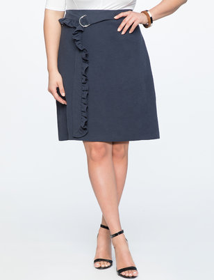 A-Line Skirt with Ruffle Belt