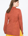 Flare Sleeve Tunic Sweater with Slits Marsala