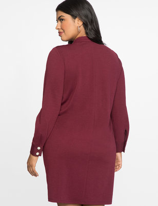 Pearl Shoulder Detail Easy Tee Dress