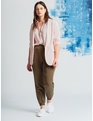 Essential Soft Blazer with Gathered Sleeve Pink Dogwood