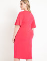 Twist Front Dress Cherry Blossom
