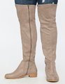 Fifi Flat Over The Knee Boot Taupe