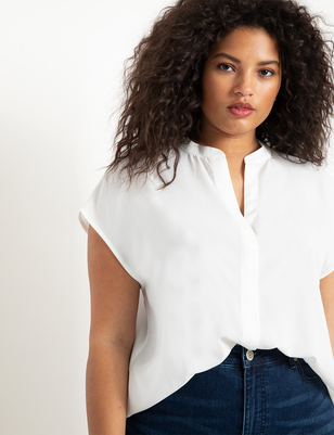 Notch Collar Blouse