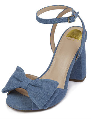 Minnie Denim Bow Heel