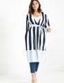 Mixed Stripe Duster Navy Stripes